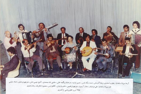 خاطیرهلی شکیل: تبریز تئلویزیاسی اورکئستری- ۱۳۵۵